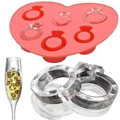ring ice cube tray - bachlorette or engagement party idea  where can I get one of these