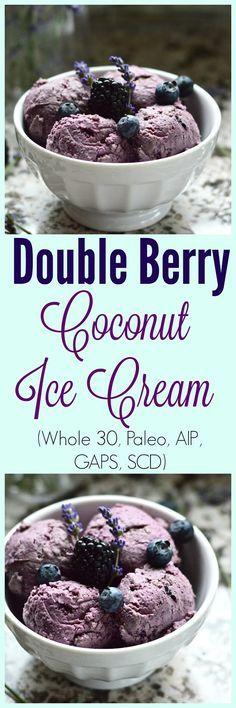 Paleo Double Berry Coconut Ice Cream