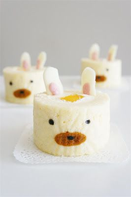 Bunny Decoration Cake Roll. By Cakelets and Doilies.