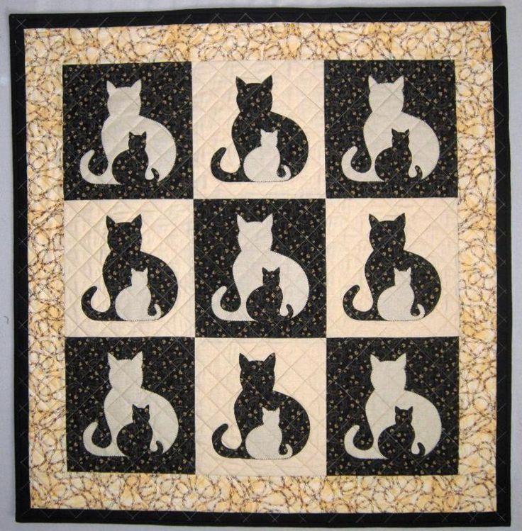 SIDEKICK Cat Applique Quilt, 5 sizes | Craftsy                                                                                                                                                                                 Mais