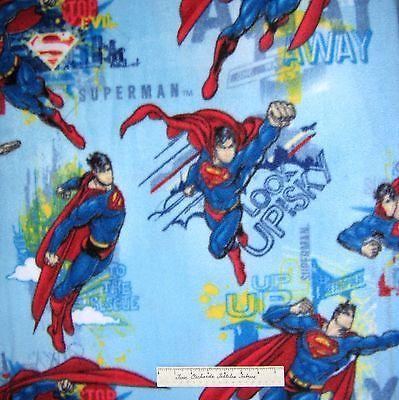 Superhero-Fabric-Superman-Flying-Allover-Blue-David-Textiles-60-034-x-YARD