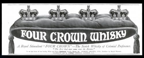 1913-Four-Crown-Scotch-whisky-vintage-UK-print-ad