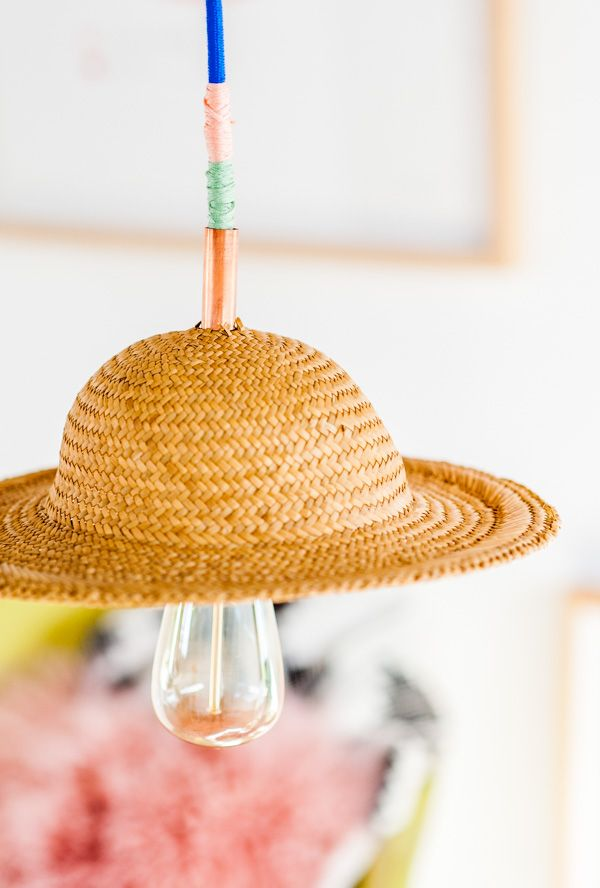 Hat Brat: How to Make a Unique DIY Pendant Light with a Hat - Paper and Stitch