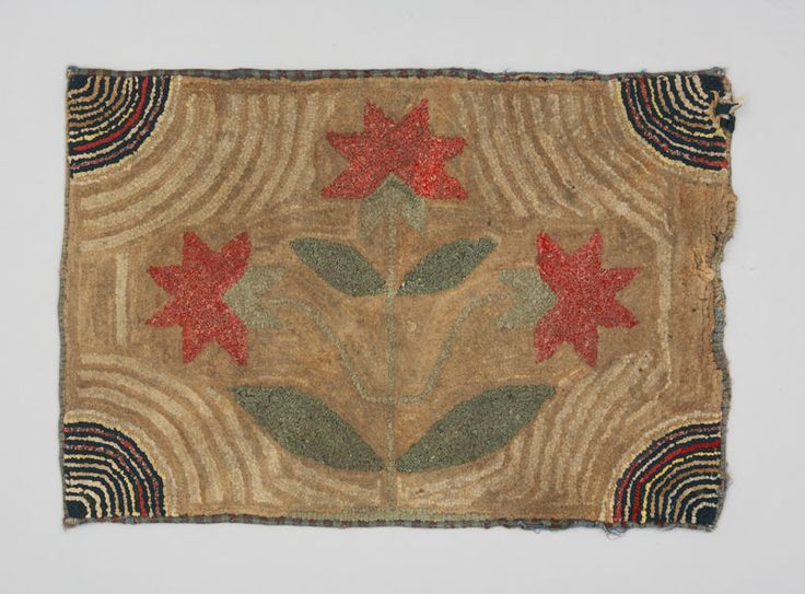 Type: For The Floor Object Name: Hooked Rug Place Made: North America: