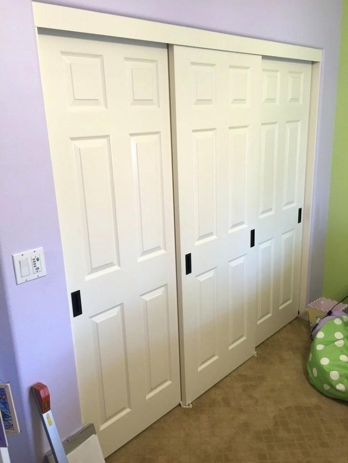Panel Closet Doors Medium Size Of 3 Track Sliding Closet Doors 3
