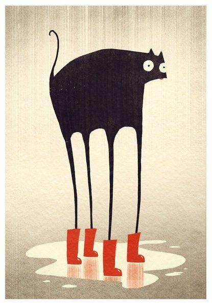adorable cat illustration   /found on facebook