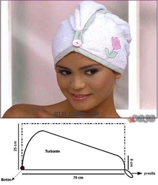Como fazer - toalha para cabelo