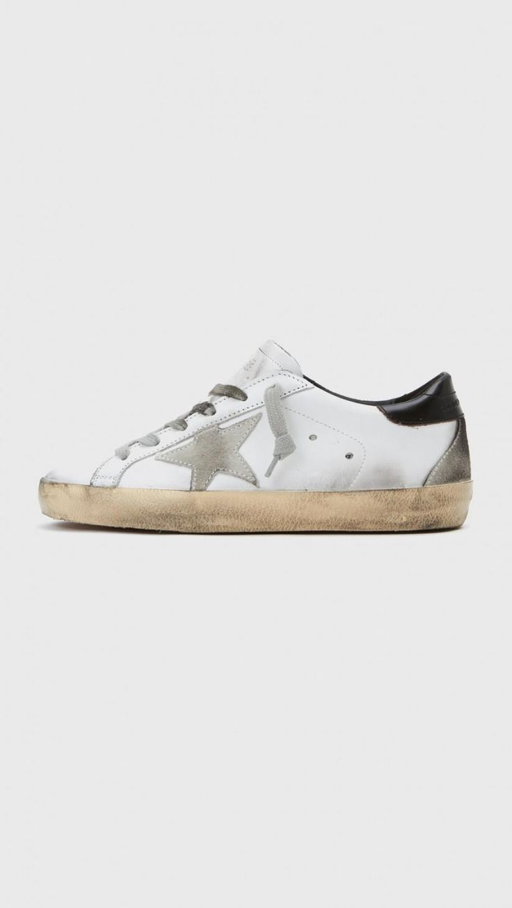 Golden Goose Classic Superstar Sneakers in White Black | The Dreslyn