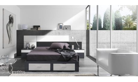 Dormitorio de matrimonio con canapé abatible 03 Abie
