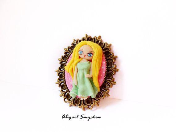 Custom Portrait Jewelry Custom Portrait Brooch by AbigailSmycken