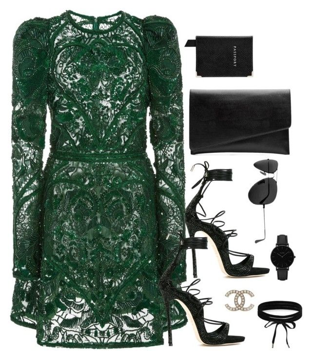 """""""Untitled #2991"""" by theaverageauburn on Polyvore featuring Dsquared2, Elie Saab, Aspinal of London, Witchery, Ray-Ban, CLUSE and Boohoo"""