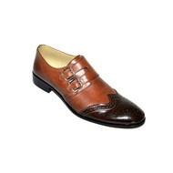"""Pantofi eleganti barbati """"Black Heart"""" - 12-816 Brown Black"""
