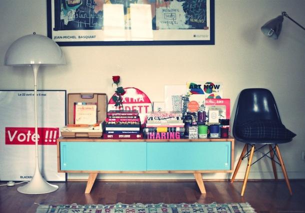 Le meuble TV Wasabi de Sengtai chez la blogueuse Ugly Mely par le blogueur The Good Old Dayz
