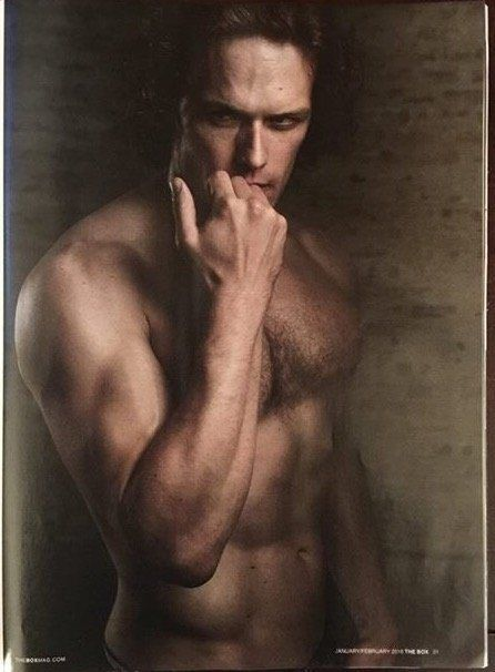 Here are few scans of Sam Heughan in The Box magazine See more scans after the jump