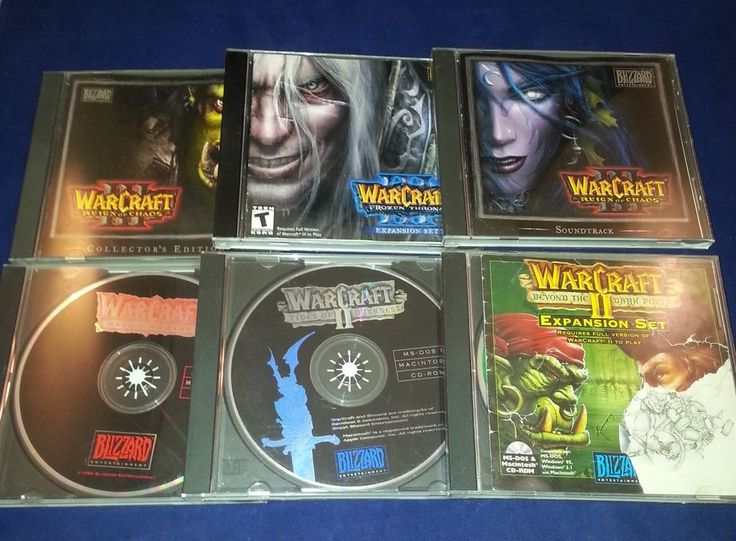 PC Warcraft 1 2 3 (2 & 3 expansions) 3 soundtrack used CDs  Lot SET of 6