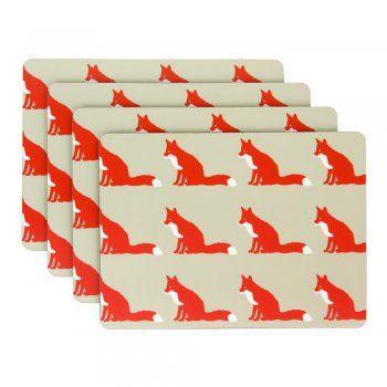 Anorak Proud Fox Placemats (Set of 4)
