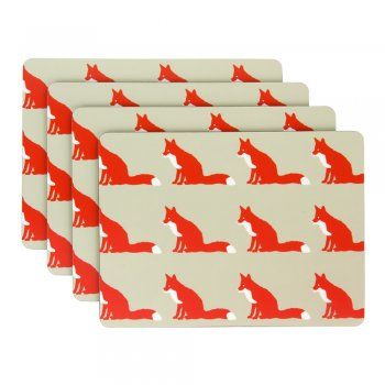 Anorak Proud Fox Placemats (Set of 4)