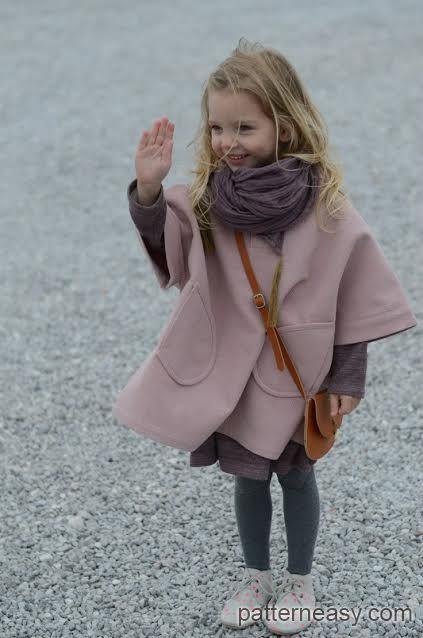Пончо для маленькой модницы   Выкройки онлайн и уроки моделирования