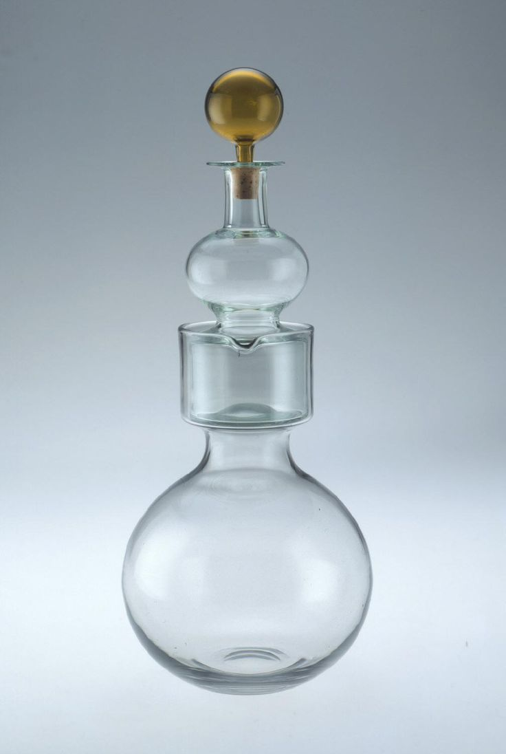 """Kremlin Bells"" Double Decanter Designed by Kaj Franck Made by Nuutajärvi glass factory Designed 1957"