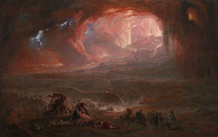 John Martin La destrucción de Pompeya y Herculano