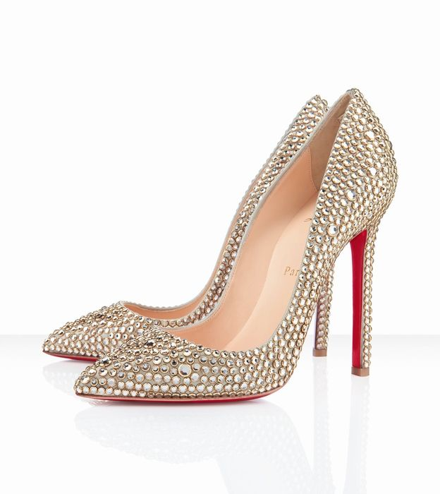 Christian Louboutin Pigalle 120mm Gold. Wedding ShoesBridal ShoesBridal  FootwearCl ...
