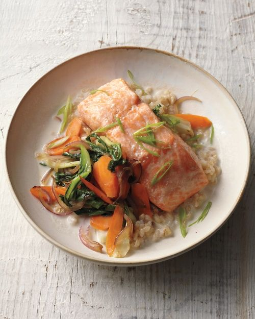 Baked Salmon with Coconut Broth // Whole Living Action Plan