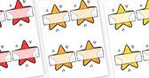 Self Registration Stars - self registration, self-registration, editable, editable labels, editable self registration labels, stars, christm...