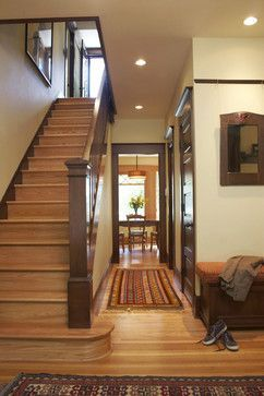 Light Wood Flooring With Dark Trim