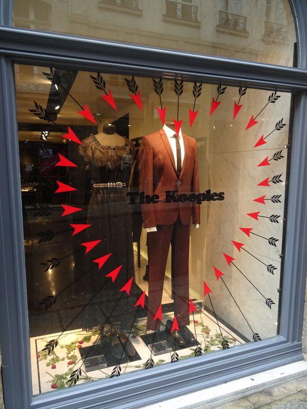 The Kooples - Vitrine Saint-Valentin #Cupidon #Retail #Window #Display