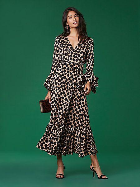 Puff Sleeve Wrap Dress  93f95002c