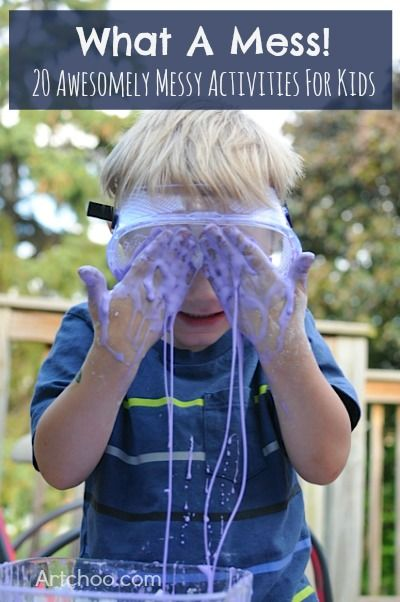 20 awesome & MESSY explorations, crafts & fun for kids