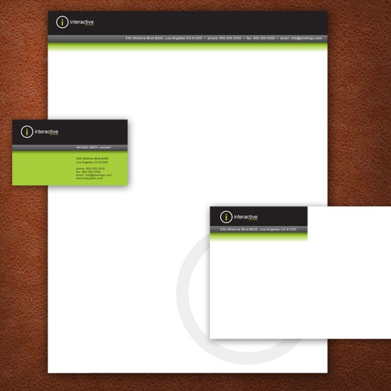 A Black and Green Stationery Set Design. #stationery #design  $29.00