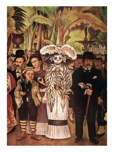 173 best images about art dia de los muertos on pinterest for Diego rivera day of the dead mural
