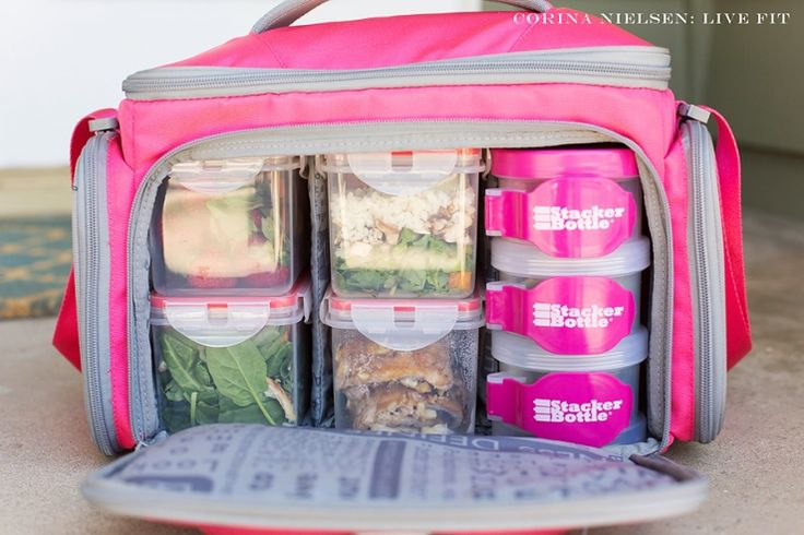 """Clean Eating & Flexible Dieting (IIFYM): Staying on track while traveling!  This post highlights some food and meal prep ideas to ensure you are eating properly for your goals while traveling.  The Fit Mark 'LG Shield"""" meal management/storage bag is ideal for those on the go!"""