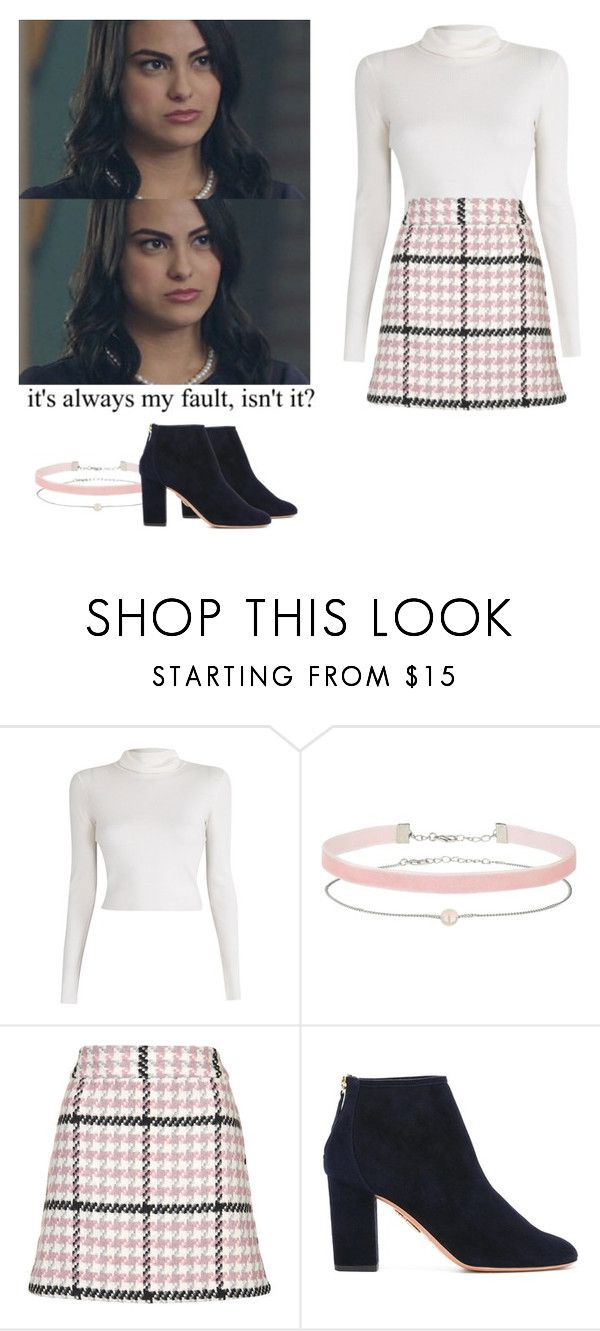 """Veronica Lodge - Riverdale"" by shadyannon ❤ liked on Polyvore featuring A.L.C., Miss Selfridge, Topshop and Aquazzura"
