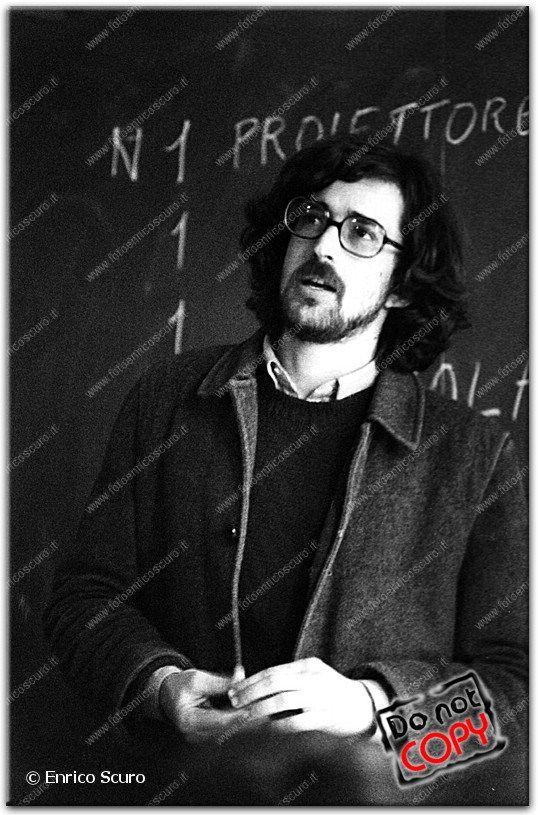 Nanni Moretti al Dams. Bologna. 5 aprile 1978