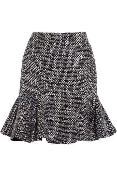 Iris & Ink fluted bouclé-tweed skirt #IRISandINK