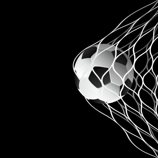 Soccer Ball In Goal Net Vector Vector And Png Soccer Backgrounds Soccer City Football Ball