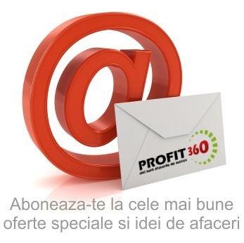 Aboneaza-te la newsletter-ul Profit360 pentru a fi la curent cu noutatile din business si cu cele mai noi oferte de licitatii, afaceri de vanzare si idei de afaceri.