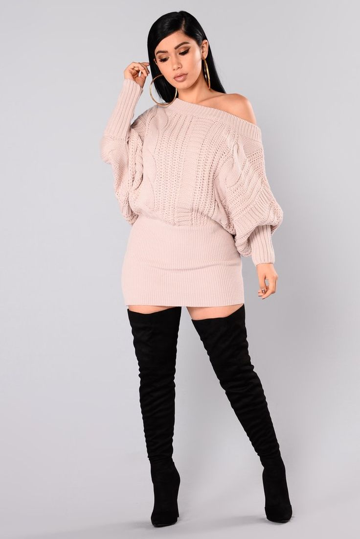 Millie Cable Knit Sweater Mauve White cable knit