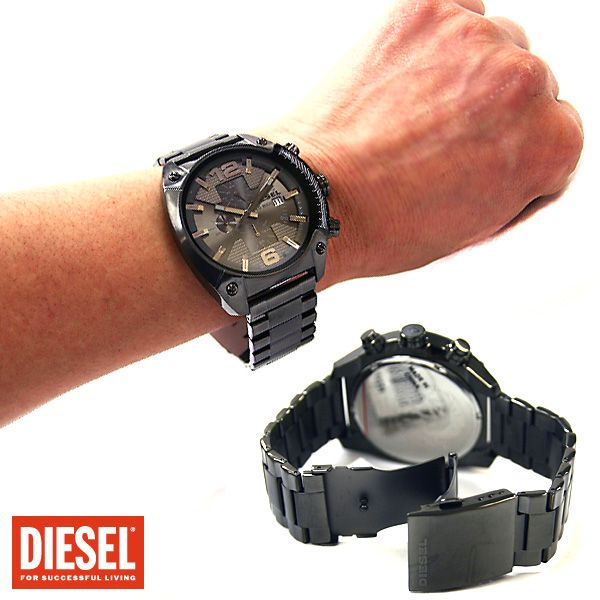 Diesel dz4224 Gunmetal steel grey dial chronograph men watch.  Diesel DZ4224 Men's Chronograph Gunmetal Steel Watch features a gunmetal IP stainless steel case and a sleek grey dial. A brushed gunmetal IP bracelet completes the look.