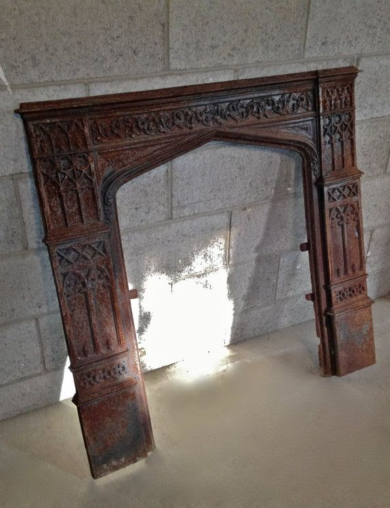 Antique Cast Iron Fireplace Insert by AsIsRepurposedItems on Etsy, $150.00 - Ideas About Cast Iron Fireplace On Pinterest Victorian