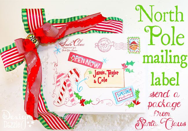 north pole special delivery printable  from santa