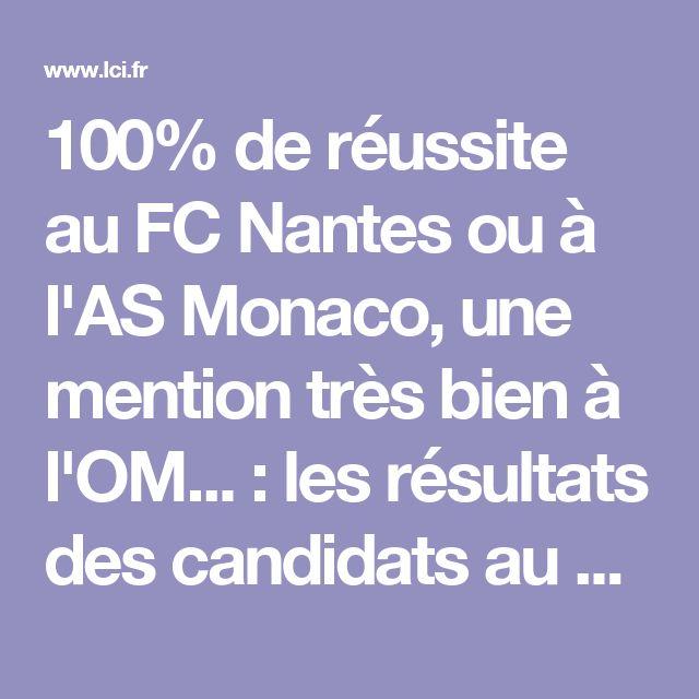 100% de réussite au FC Nantes ou à l'AS Monaco, une mention très bien à l'OM... : les résultats des candidats au bac dans les clubs de Ligue 1 - LCI