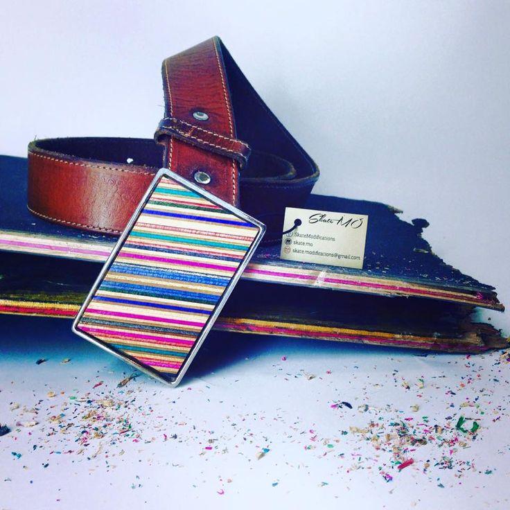 Leather skate belt handmade by broken skateboards decks !!  skatemodifications@gmail.com.
