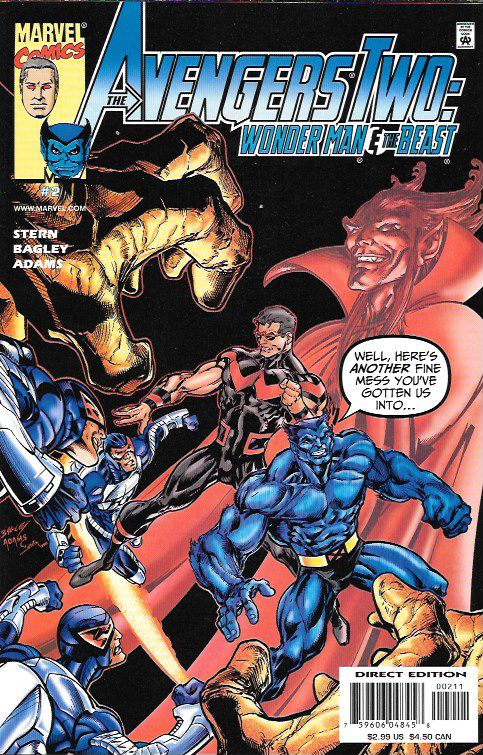 Nightmares And Memories __Writer Roger Stern , penciler And cover by Mark Bagley , The Story __ Continuing the Avengers Alumni's wild road trip! Well, this is another fine mess Wonder Man's gotten the