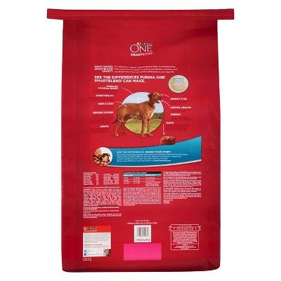 Purina One SmartBlend Large Breed Adult Formula Adult Premium - Dry Dog Food - 31.1lb Bag, Burmese Beige