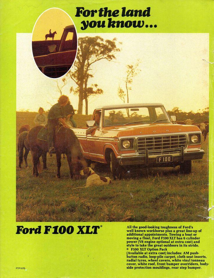 https://flic.kr/p/W4ep3Q | 1978 Ford F100 XLT & F100 4WD XLT Page 1 Aussie Original Magazine Advertisement