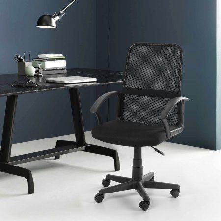 Urban Shop Mesh Office Chair, Multiple Colors, Black