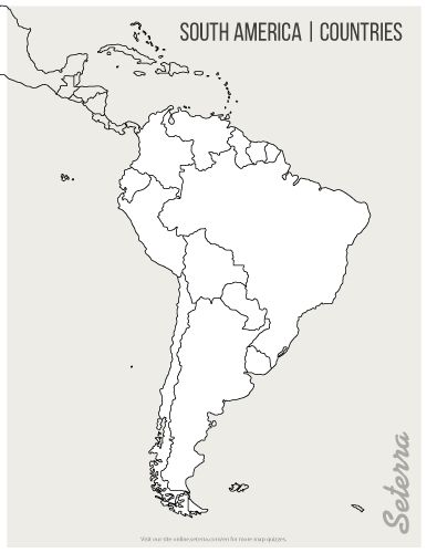 Dynamite image within printable south america maps